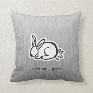 Cute Bunny; Meta-look Throw Pillow