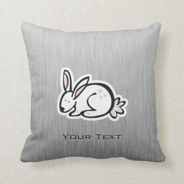 Cute Bunny; Meta-look Throw Pillows