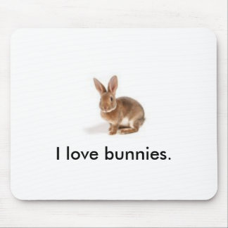 Cute Bunny Mouse Pad