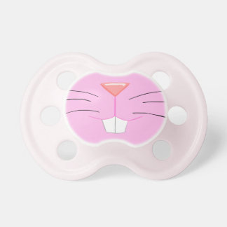 Cute bunny nose - pink fur and red nose pacifier