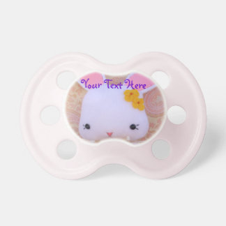 Cute Bunny Pacifier for Baby Girls