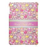 Cute Bunny pern girly purple  Cover For The iPad Mini