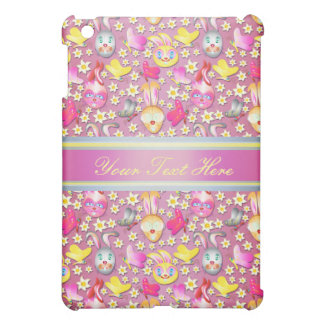 Cute Bunny pern girly purple iPad Mini Case