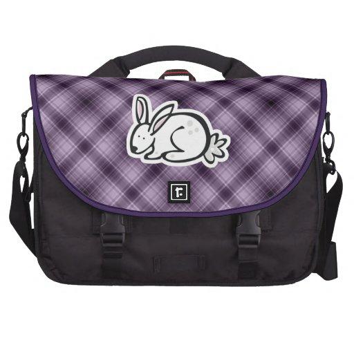 Cute Bunny; Purple Bag For Laptop