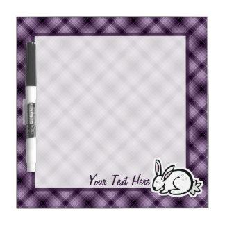 Cute Bunny; Purple Dry Erase Board