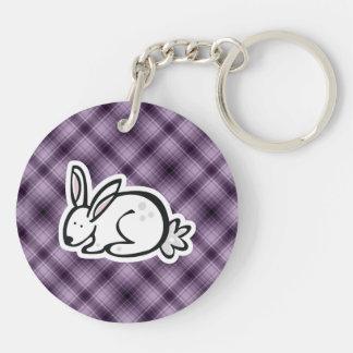 Cute Bunny Purple Acrylic Key Chain