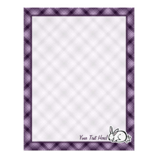 Cute Bunny; Purple Letterhead Template
