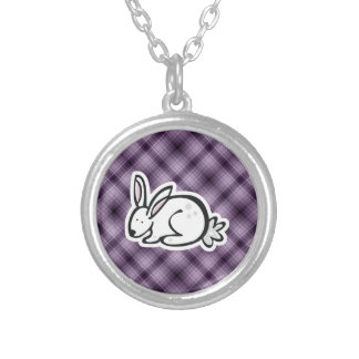 Cute Bunny; Purple Personalized Necklace