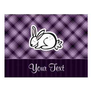 Cute Bunny; Purple Postcard