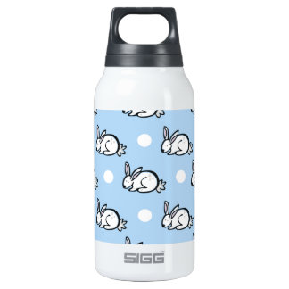 Cute Bunny Rabbit; Baby Blue & White Polka Dots SIGG Thermo 0.3L Insulated Bottle