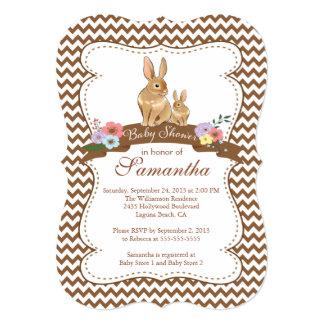 Cute Bunny Rabbit Baby Shower Invitations