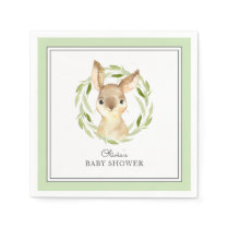 Cute Bunny Rabbit Baby Shower Napkin