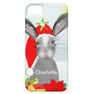 Cute Bunny Rabbit Christmas Holiday Theme iPhone SE/5/5s Case