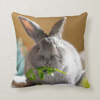 Cute Bunny Rabbit Easter Throw Pillow