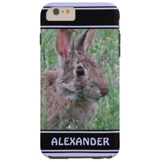 Cute Bunny Rabbit In Wildflowers Animal Lover Tough iPhone 6 Plus Case