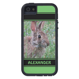 Cute Bunny Rabbit In Wildflowers Animal Lover iPhone 5 Case
