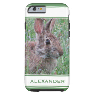 Cute Bunny Rabbit In Wildflowers Animal Lover Tough iPhone 6 Case