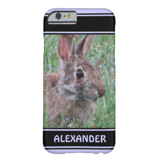 Cute Bunny Rabbit In Wildflowers Animal Lover Barely There iPhone 6 Case