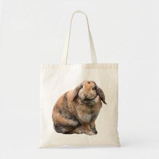 Cute bunny rabbit lop-eared tote bag, gift idea