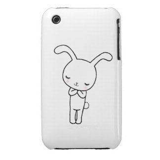 Cute Bunny Rabbit Phone Case by MiKa Art iPhone 3 Case-Mate Cases