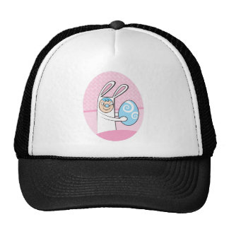 Cute bunny rabbit with Easter egg Trucker Hat