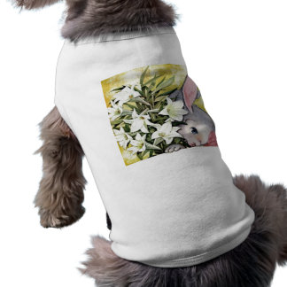 Cute Bunny Rabbit with Flowers Pet Shirt