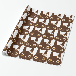 cute bunny rabbit with skull bow gift wrap