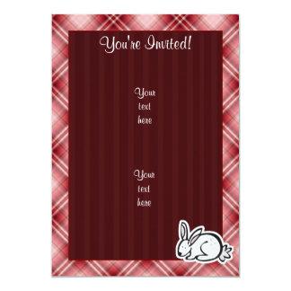 Cute Bunny; Red Plaid Card