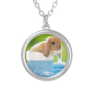 Cute Bunny Silver Plated Necklace