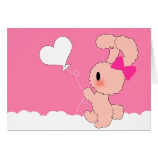 Cute Bunny Valentines Card