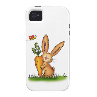 Cute Bunny with Carrot by Gerda Steiner/Send2smile Vibe iPhone 4 Case