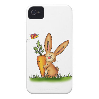 Cute Bunny with Carrot by Gerda Steiner/Send2smile iPhone 4 Cover