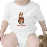 Cute Bunny with flowers baby creeper Tshirts