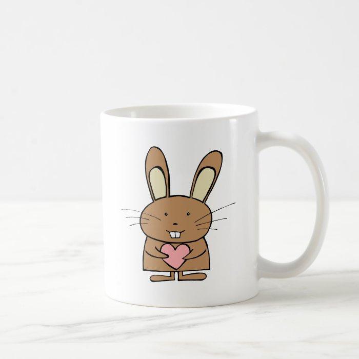 Cute Bunny with Heart Coffee Mug