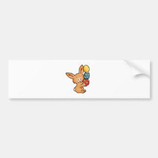 Cute Bunny with pile of eggs Bumper Sticker
