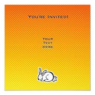 Cute Bunny; Yellow Orange Card