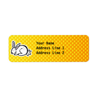 Cute Bunny; Yellow Orange Label