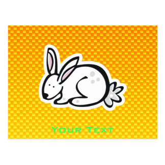 Cute Bunny; Yellow Orange Postcard