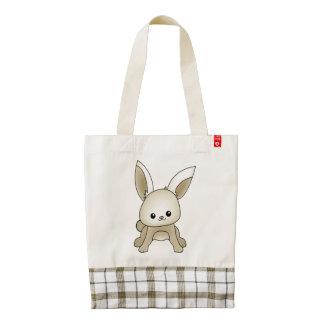 Cute bunny zazzle HEART tote bag
