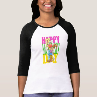 Cute bunnys on a Mothers day  raglan t-shirt. T-Shirt