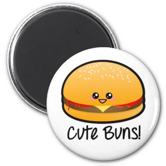 Cute Buns 2 Inch Round Magnet