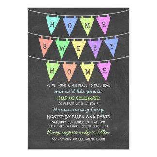 Cute Bunting Banners Home Sweet Home Housewarming Card