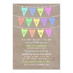 Cute Bunting Banners Home Sweet Home Housewarming 5x7 Paper Invitation Card