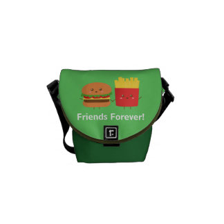 Cute Burger and Fries Friends Forever Bag