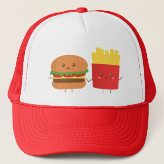 Cute Burger and Fries, Friends Forever Trucker Hat