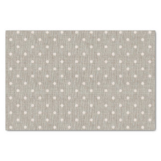 "Cute Burlap Polka Dots 10"" X 15"" Tissue Paper"