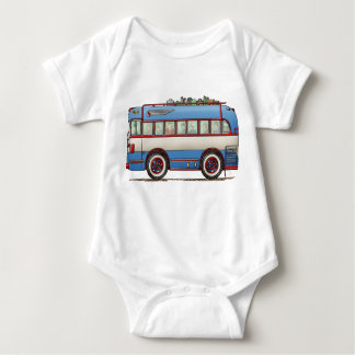 Cute Bus Tour Bus Baby Bodysuit