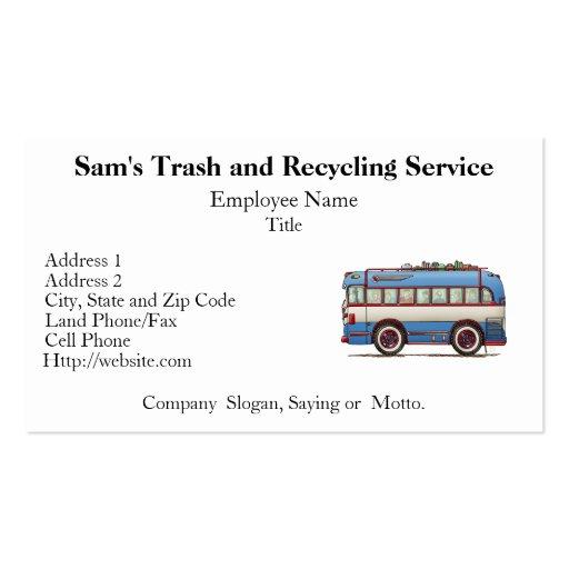 Cute Bus Tour Bus Business Card
