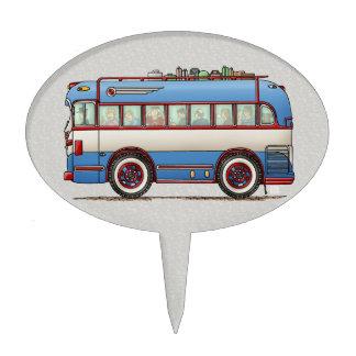 Cute Bus Tour Bus Cake Topper