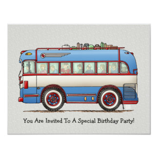 Cute Bus Tour Bus Card